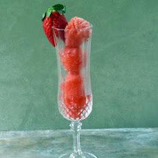 Champagne Sorbet with Berry Medley