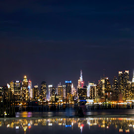NYC Reflections by Linda Antenucci - City,  Street & Park  Skylines