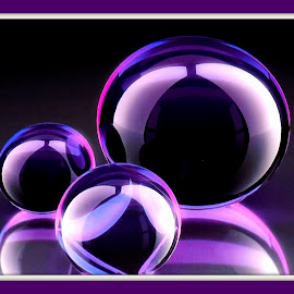 Orion's bubbles by Mary Voss - Digital Art Abstract ( bubble maker, bubbles, dish soap, purples, blues )