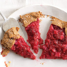 Rhubarb and Raspberry Crostata