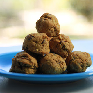 Coconut Flour Oatmeal Raisin Cookie Balls