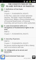 Screenshot of Constitution Of Pakistan