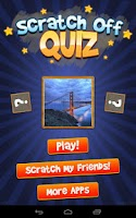Screenshot of Scratch Off Quiz