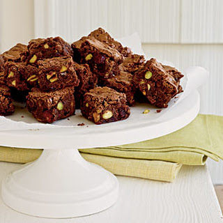 Cranberry and Pistachio Brownie Bites