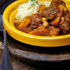 Lamb, Chickpea And Squash Tagine With Chermoula And Couscous