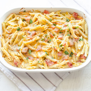 Baked Three-Cheese Italian Penne Pasta