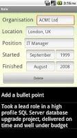 Screenshot of CV Writer