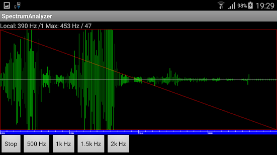 Spectrum Analyzer - screenshot