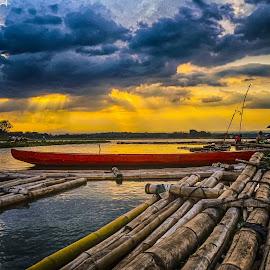 * Red Boat Afternoon * by Mazari Mazari - Transportation Other