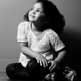 Innocence by Kaeli Ann - People Family ( child, pure, black and white, innocence, young girl, kids, toddler, kids portrait, portrait,  )