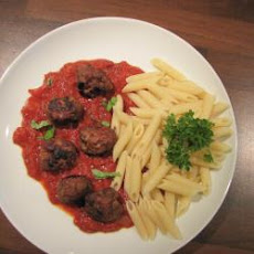Baked Meatballs With Tomato And Penne