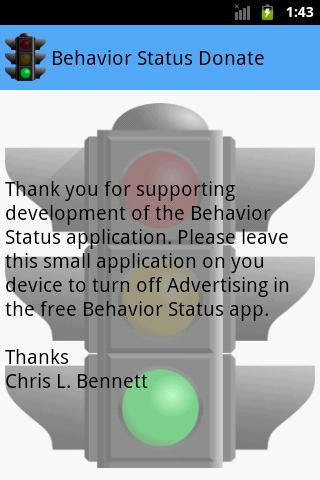 Behavior Status Donate