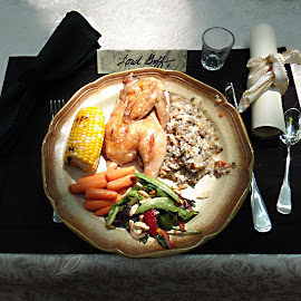 Dinner al fresco by Dan Dusek - Food & Drink Plated Food ( chicken, dinner, food, food shots, food photography )