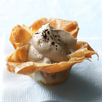 Phyllo Cups with Cappuccino Cream