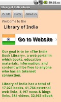 Screenshot of Library of India eBooks