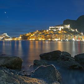 Blue hour at Portovenere by Dario Tarasconi - City,  Street & Park  Night