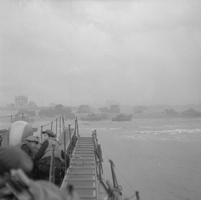 The approach to Sword Beach