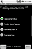 Screenshot of 400 Economic Flashcards & Quiz