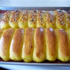 Golden Pumpkin Rolls