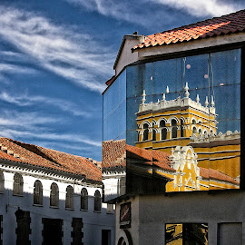 Reflection by Guy Gillade - Buildings & Architecture Architectural Detail ( reflection, bolivia )