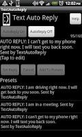 Screenshot of TextAutoReply