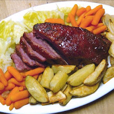 Glazed Corned Beef Brisket & Veggies