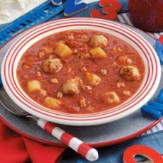 Meatball Alphabet Soup