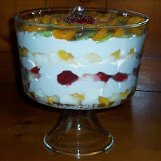 Yummy Peach/Strawberry/Kiwi Trifle