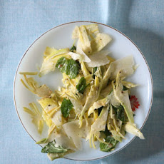 Raw Artichoke Salad with Parmesan and Mint