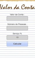Screenshot of Calcula Conta Restaurante
