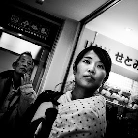 Girl by Kurt K Gledhill - Black & White Portraits & People ( okayama, japan, street, candid, portrait )
