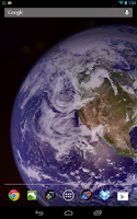 Screenshot of Space Live Wallpaper Pro