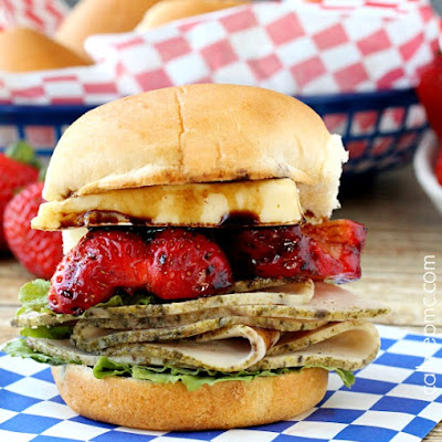 Turkey Strawberry Brie Sandwich
