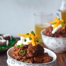 Super Bowl Chipotle Chili con Carne