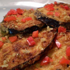 Garlic Parmesan Eggplant Slices