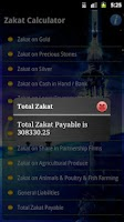 Screenshot of Zakat Calculator