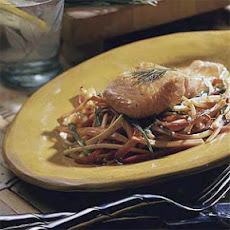 Glazed Salmon with Stir-fried Vegetables