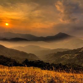 The Dreamy Sunset by Madhujith Venkatakrishna - Landscapes Mountains & Hills