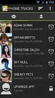 Screenshot of Phone Tracks