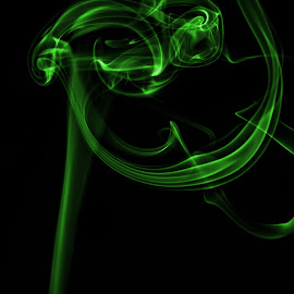 Green Smoke by John Anderson - Abstract Light Painting ( abstract, creative, green, smoke trail, fire, smoke )