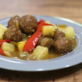 Sweet and Sour Meatballs Recipe With Pineapple