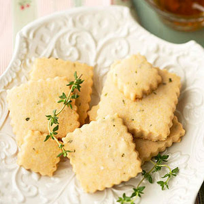 Lemon-Thyme Shortbread Cookies Laced with Honey