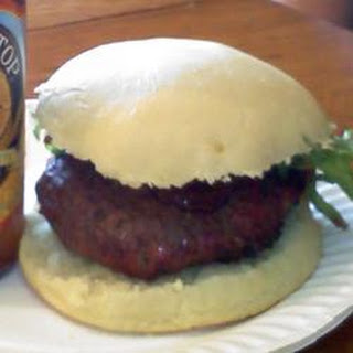 Blue Stuffed Buffalo Burger