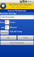 Screenshot of RxTime Pill Reminder