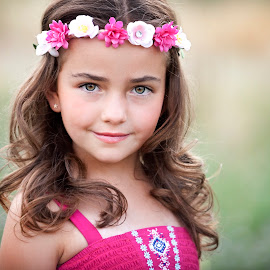 by Melissa Papaj - Babies & Children Child Portraits ( child, glamour, model, girl, female, pink, garden, flower )