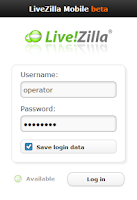 Screenshot of LiveZilla