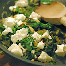 Spinach with Feta & Pine Nuts