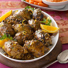 Chicken Thighs with Mustard-Citrus Sauce