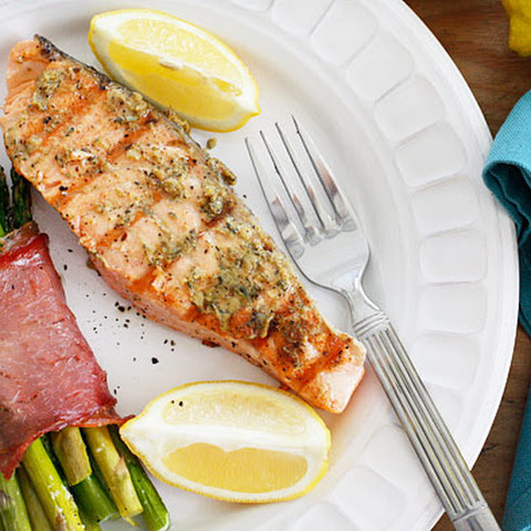 Grilled Garlic Dijon Herb Salmon
