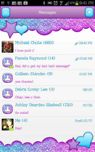 GO SMS - Cotton Candy Sky 2